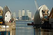 UK, england, London, canary wharf, Thames Barrier, O2 2009