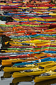 Ocean kayaks, Rockport Harbor, Rockport, Cape Ann, Massachusetts, USA