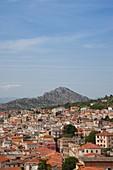 Italy, Sardinia, Eastern Sardinia, Golfo di Orosei gulf, Dorgali, town view