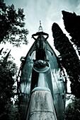 Italy, Lombardy, Lake District, Lake Garda, Gardone Riviera, Il Giardini del Vittoriale, Italian National Monument to WW1-era writer and adventurer Gabriele D´ Annunzio, Battleship Puglia