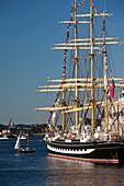 USA,Massachusetts, Boston, Sail Boston Tall Ships Festival, Russian ship Kruzenshtern