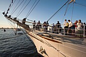 USA,Massachusetts, Boston, Sail Boston Tall Ships Festival, Brazilian tall ship, Cisne Branco, visitors, NR