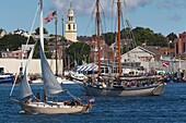 USA, Massachusetts, Cape Ann, Gloucester, Gloucester Harbor, Schooner Tall Ship Festival