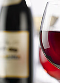 Alcohol, Aliment, Aliments, Background, Beberage, Bottle, Close, Close-up, Closeup, Colour, Cup, Drink, Food, Foodstuff, Healthy, Indoor, Life, Nourishment, Red, Refresh, Rose, Still, Up, White, Wine, D80-831644, agefotostock