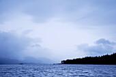 Canada, BC, Queen Charlotte Islands, Gwaii Haanas National Park  Threatening skies over the islands
