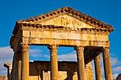 Capitolio, Ciudad romana de Dougga, Tunez, Africa