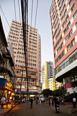 Shopping street at city center of Kunming, Yunnan, People's Republic of China, Asia