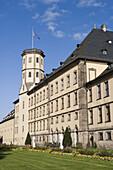 Außenansicht von Fuldaer Stadtschloß, Fulda, Rhön, Hessen, Deutschland, Europa