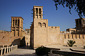 Bastakiya, houses of the old town, Dubai, UAE, United Arab Emirates, Middle East, Asia