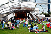 Jay Pritzker Pavillion by Frank O. Gehry, Millenium Park, Chicago, Illinois, USA