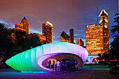 Millennium Park, Zaha Hadid Pavilion for the Burnham Centennial, Chicago, Illinois, USA