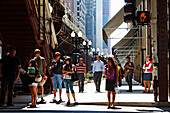 Street scene, Lake Street, Chicago, Illinois, USA