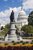 James A Garfield Statue in front of the United States Capitol, Washington DC, USA