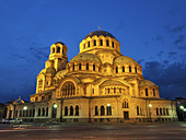The gold-domed St. Alexander Nevsky Cathedral was built in the early 20th century in memory of the 200,000 Russian soldiers, who died in the Russo-Turkish War, 1877–1878. It is one of the largest Eastern Orthodox cathedrals in the world. The cathedral´s g