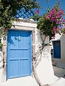 In back alleys of Emporio, Santorini, Greece