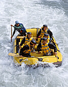 Rafting on the Shotover River near Queenstown New Zealand