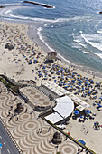 People at the Tayelet seaside promenade and on the Frishman beach, Tel Aviv, Israel, Middle East