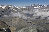 View over Valsavarenche valley, Gran Paradiso National Park, Aosta valley, Italy
