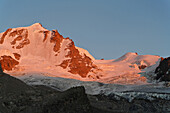 Gran Paradiso in twilight, Aosta Valley, Italy