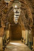 Interior hallway, Riad La Sultana, Luxury Hotel, Marrakech, Morocco, Africa