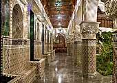 Interior courtyard, Riad La Sultana, Luxury Hotel, Marrakech, Morocco, Africa