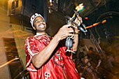 Musician entertaining at Club Jad Mahal, Marrakech, Morocco, Africa