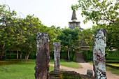 A dagoba in the Gal Vihara, Polonnaruwa, Sri Lanka, Asia