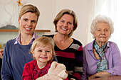 Four female generations of a family
