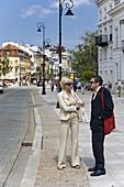 Business people on Krakowskie Przedmiescie Street, Warsaw, Poland, Europe