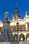 Adam Mickiewicz Monument at Main Market Square Rynek Glowny, Krakow, Poland, Europe