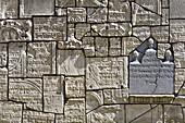 Wall of the Old Jewish Cemetery at Jewish Kazimierz Quarter, Krakow, Poland, Europe