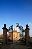 Front gate of Pagodenburg, Rastatt, Black Forest, Baden-Württemberg, Germany