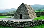 Exterior of Gallarus Early Irish Celtic Christian oratory Dingle Peninsula, County Kerry, Ireland Dry stone corbelling