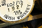 Irish whiskey matures in barrels in the warehouse of Locke's Distillery in the town of Kilbeggan, Westmeath, Ireland