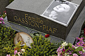 The grave of Edith Piaf, Père Lachaise, Paris, France