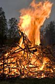A bonfire on Walpurgis night, Sweden