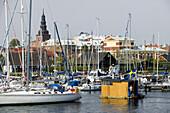 The marina in Ystad, Skane, Sweden