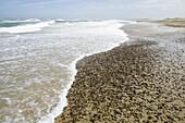 Waves and small stones in the water´s edge, Skagerrak, Jutland, Denmark