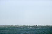 People are walking on beach, the farthest headland where Skagerrak and the Kattegatt meet, Skagen, Jutland, Denmark