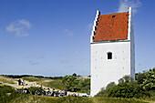 Church lie buried in sand, Jutland, Denmark