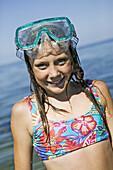 Girl with goggles and bikini