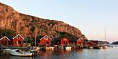 Red fishing cottages, Bohuslan, Sweden