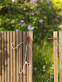 Open brown gate, Hano, Blekinge, Sweden