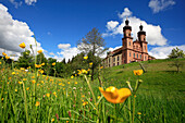 St. Peter abbey and flower meadow, Black Forest, Baden-Württemberg, Germany, Europe