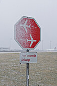 Stopp sign, Munich airport, Bavaria, Germany