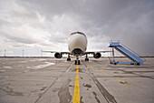 Airplane on airfield, Munich airport, Bavaria, Germany