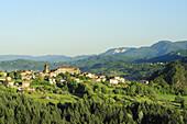Mountain village, Alpi Apuane nature reserve park, Alpi Apuane, Apennines, Tuscany, Italy