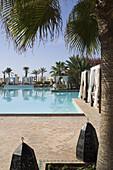 Hotel swimming pool, Agadir, Morocco, North Africa, Africa