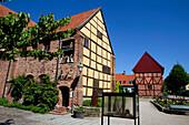 Historical half-timber house, Ystad, Skane, South Sweden, Sweden