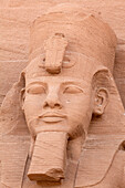 Giant statue at the Temple of Rameses II., Abu Simbel, Egypt, Africa